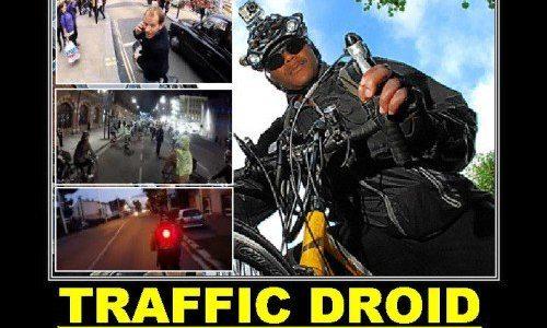 Ciclista paladino della strada